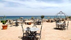 餐馆在亚喀巴湾 免版税库存图片