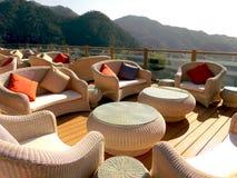 餐馆在喜马拉雅山 免版税库存照片