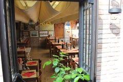 餐馆在威尼斯,意大利 免版税库存照片