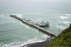 餐馆在海运的利马或秘鲁 免版税库存照片