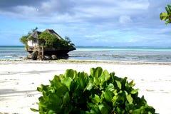 餐馆在海洋 免版税图库摄影