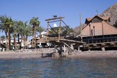 餐馆在红海海岸 免版税库存图片