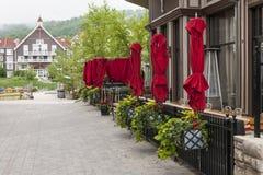 餐馆在蓝色山村, Collingwood,安大略,加拿大 库存图片