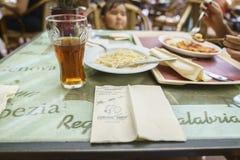 餐馆在铁锈的,德国欧罗巴公园 图库摄影
