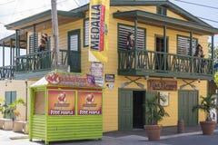 餐馆在Boqueron 免版税库存照片