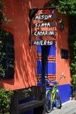 餐馆在Coyoacan 免版税库存照片