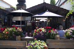 餐馆在Leavenworth德国人镇 库存照片