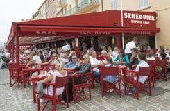餐馆在Sant-Tropez 库存图片
