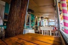 餐馆在Skadarlija 库存图片
