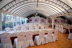 餐馆婚礼 免版税库存照片