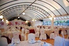 餐馆婚礼 免版税库存图片