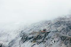 餐馆或避难所山山顶的 库存图片