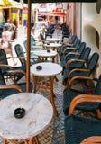 餐馆旅游近的桌在阿尔布费拉 库存图片