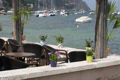餐馆海边 库存图片