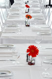 餐馆白色 库存图片