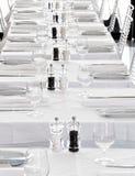 餐馆白色 库存照片