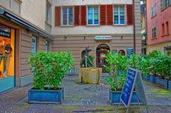 餐馆的外部在卢赛恩 免版税库存图片