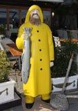 餐馆的广告形象:渔夫 库存图片