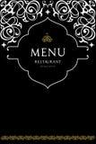 餐馆的菜单设计 免版税库存照片