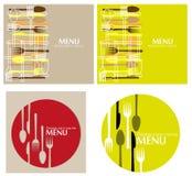 餐馆的菜单 免版税图库摄影