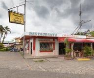 餐馆的门面,哥斯达黎加 免版税库存照片