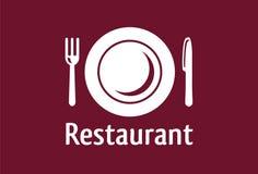 餐馆符号 免版税库存照片