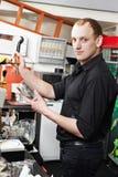 餐馆经理酒吧招待人在工作地点 图库摄影