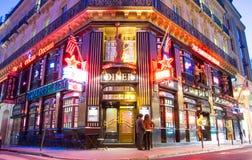 餐馆美国梦,巴黎,法国 免版税库存照片