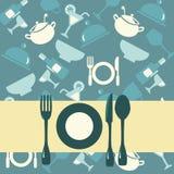 餐馆菜单例证背景  免版税图库摄影