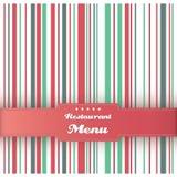 餐馆菜单卡片设计模板。 向量。 库存照片