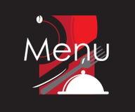 餐馆菜单卡片设计 库存图片