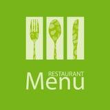 餐馆菜单卡片 图库摄影