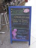 餐馆菜单在穆尔西亚,西班牙 库存图片