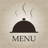 餐馆菜单模板向量例证 库存图片