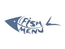 餐馆菜单的抽象风格化被称的鱼 库存照片