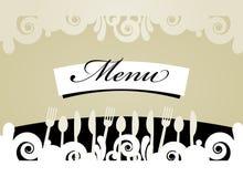 餐馆菜单看板卡 免版税库存图片