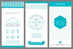 餐馆菜单设计模板 图库摄影
