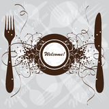 餐馆菜单设计,模板 免版税库存照片