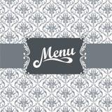餐馆菜单设计 免版税库存图片