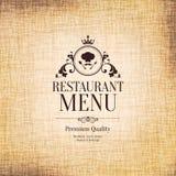 餐馆菜单设计 免版税库存照片