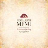 餐馆菜单设计 免版税图库摄影