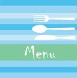 餐馆菜单 免版税图库摄影
