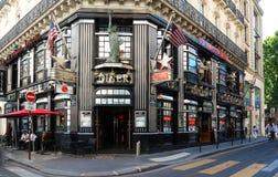 餐馆著名美国梦,在歌剧区附近,巴黎,法国 免版税库存图片