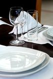 餐馆葡萄酒杯 库存图片