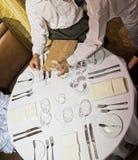 餐馆表 库存照片