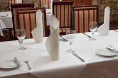 餐馆表 免版税图库摄影