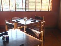 餐馆表 图库摄影