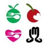 餐馆食物徽标 库存图片