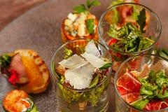 餐馆食物点心开胃菜 图库摄影