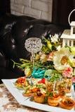 餐馆食物点心开胃菜 免版税库存图片